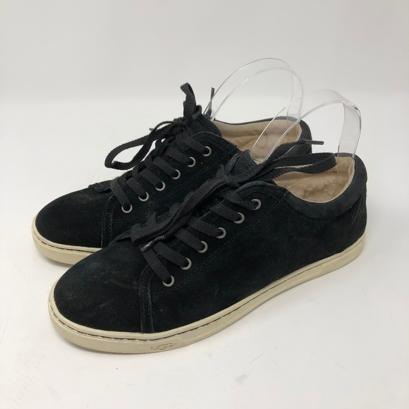 1b9869cf4dd UGG Black Suede Tomi Lace Up Sneakers 9